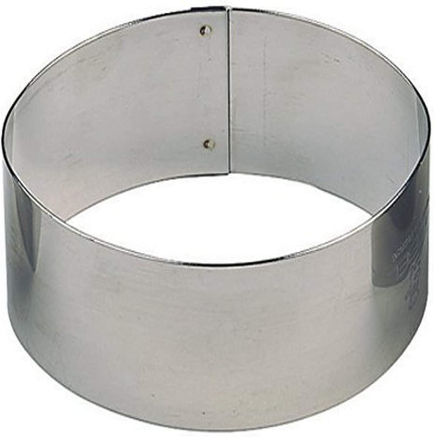 Paderno World Cuisine Pack of 6 Oval Stainless Steel Pastry Rings 3-Inch by 1-7//8-Inch