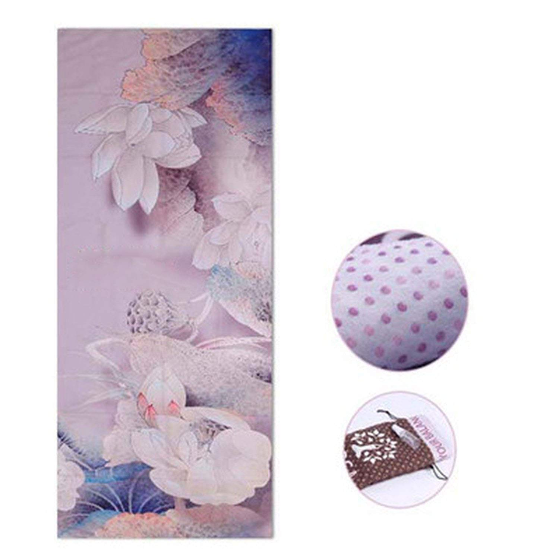 Amazon.com : Ting room Printed Yoga Mat Towel Microfiber ...