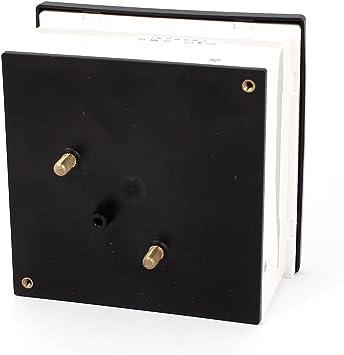 Aexit Panneau rectangulaire AC 2A m/ètre courant 44L1 AMPEREMETRIQUE AMPERMETRE-A analogique 408U393