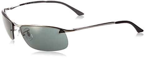 25d46b3a23 Rayban - Gafas de sol Rectangulares RB3183 Top Bar, Grey (004/71 Gunmetal