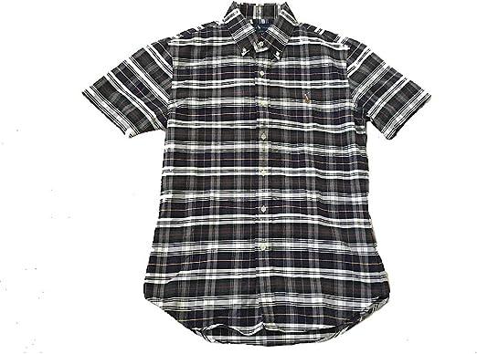 Polo Ralph Lauren Slim Fit Button Down Short Sleeve Oxford Check