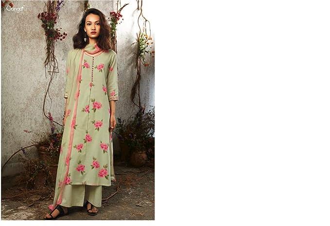 Amazon.com: Ganga - Trajes de peluquería para mujer (salwar ...