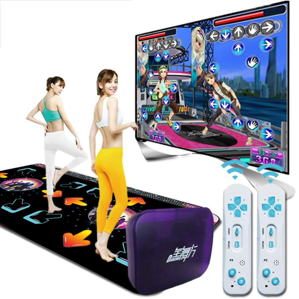 Double Wireless Dance Pad,Game Dancing Dance Revolution Fitness Lose Weight Dancing Blanket Children Musical Mat Gift-e 166x93cm(65x37inch) by WEWE (Image #2)