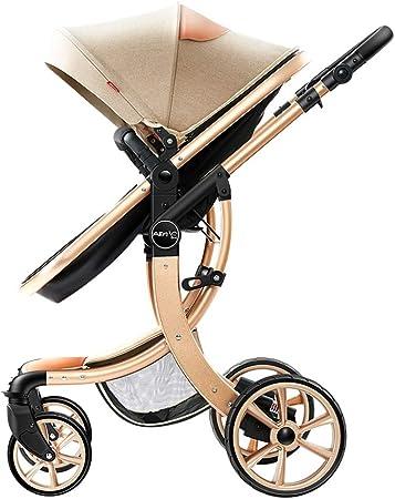 Opinión sobre Cochecito con sistema de viaje, sistema de amortiguación a nivel de campo traviesa, implementación bidireccional, puede sentarse y acostarse, asiento con cesta para dormir Cochecito dos en uno, cest