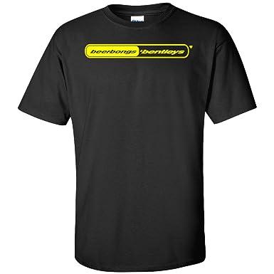 Post Malone Beerbongs & Bentleys Yellow Logo T Shirt Stoney b&B Black
