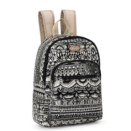Sakroots-Artist Circle Mini Backpack Black (Circle Wristlet)