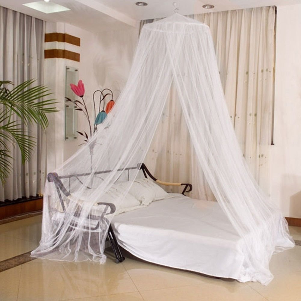 Direct HomeR White Mosquito Net Bed Canopy Polyester 10 Meter X 25 Insect