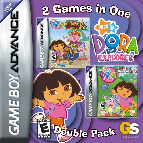Amazon Dora The Explorer Super Star Adventures Search For Pirate Pigs Treasure Double Pack Game Boy Advance Video Games