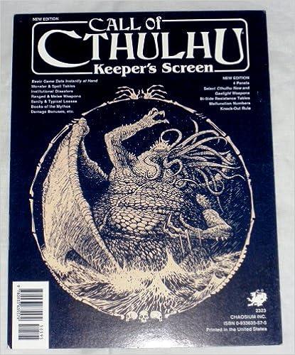 Book Call of Cthulhu Keeper's Screen