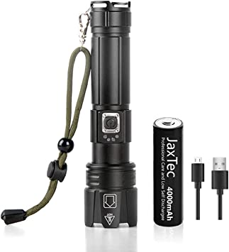 Details about  /1 x Super  Bright Tactical XH-P70 LED Flashlight Torch 5-Mode USB Rechargeable