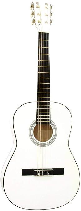 Guitarra de concierto FIDEL con bolsa para llevar, 3/4, blanca ...