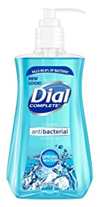 Dial Liquid Hand Soap, Spring Water, 7.5 Ounce