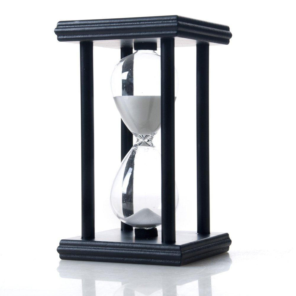 Bellaware Hourglass Sand Timer, 15 Minutes Wood Sand Clock