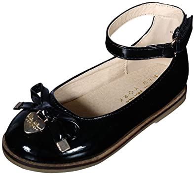 Nicole Miller New York Girls Patent Ankle Strap Dress Shoes (Toddler) (5 M 186be8feee66