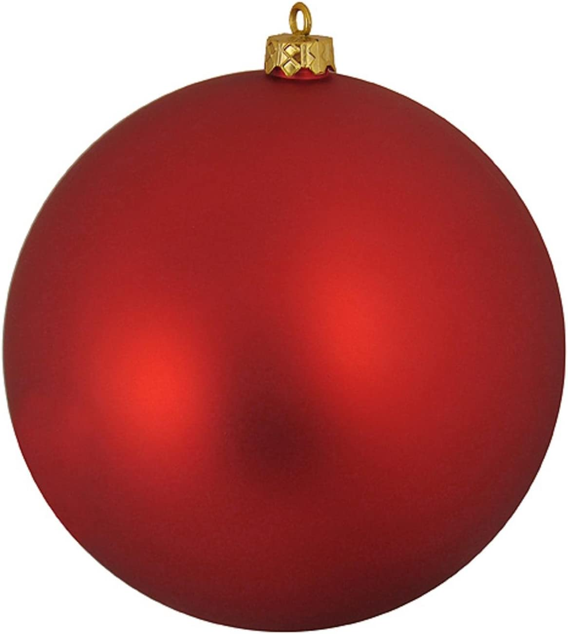 Amazon Com Northlight Shatterproof Matte Red Hot Commercial Christmas Ball Ornament 10 Home Kitchen