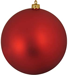 Matte Red Hot Commercial Shatterproof Christmas Ball Ornament 6