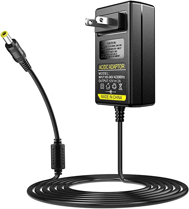 SoulBay 12V Power Cord for Sony Blu-Ray Disc DVD Players BDP-Series BDP-S1700 BDP-S3200 BDP-S3500 BDP-S3700 BDP-S6500 12 Volt Replacement for Sony AC-M1208UC AC Adapter
