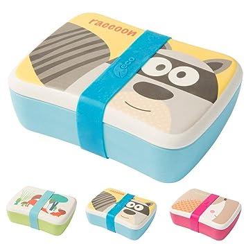 Biozoyg Kinder Bento Lunchbox Aus Bambus I Brotdose Mit Extra Snack