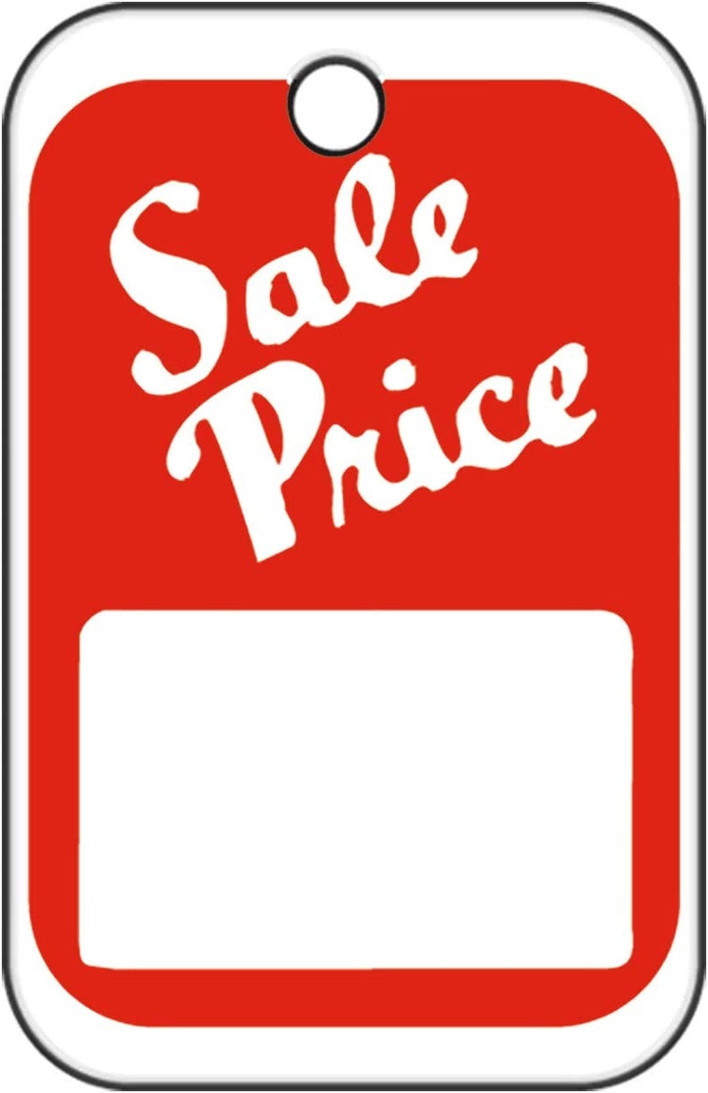 1000 SALE PRICE Tags Red White Unstrung