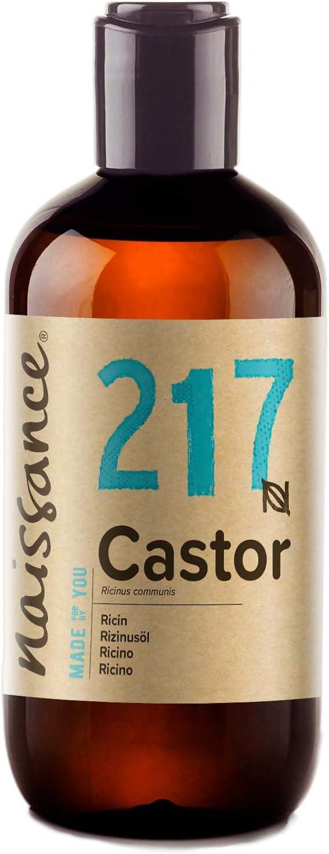 Naissance Aceite de Ricino 250ml - Puro, natural, vegano, sin hexano, no OGM - Hidrata y nutre el cabello, las cejas y las pestañas