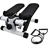 Aimik Mute Stepper with Drawstring, Home Office Household Gym Mute Stepper with Band, Health Fitness Hydraulic Mute Stepper M