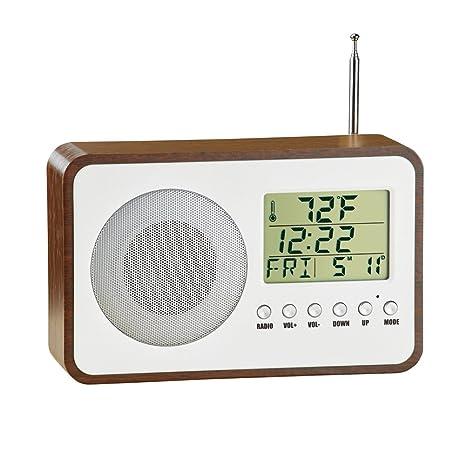 Amazoncom Collections Etc Radio Alarm Clock With Temperature And