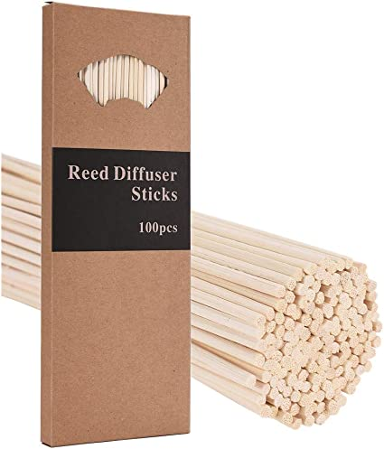 Sgoot Reed Diffuser Sticks Essential Oil Refill Reeds Natural Rattan Stick Wood Replacement for DIY Aroma Fragrance No Sent 10 inch Packing of 110