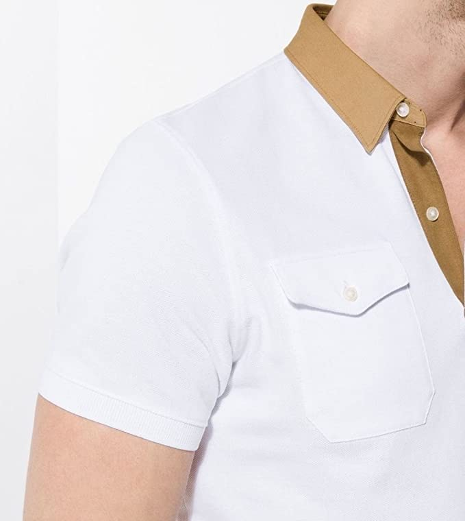 MASSIMO DUTTI - Polo - para Hombre Blanco Blanco M: Amazon.es ...