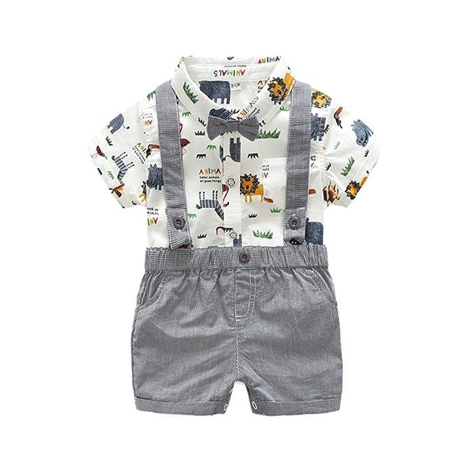 95ec4a5cb Amazon.com: Summer Gentleman Outfits Baby Boys Clothing Sets Short ...