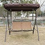 Bestmart INC Outdoor Swing Deck 2 Person Canopy Porch Swing Hammock Bench  Loveseat