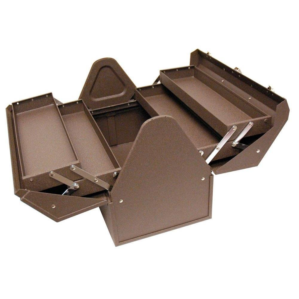 (USA Warehouse) NEW Homak 18 in. Cantilever Steel Hand Carry Brown Wrinkle BW00210180 Tool Box -/PT# HF983-1754419745