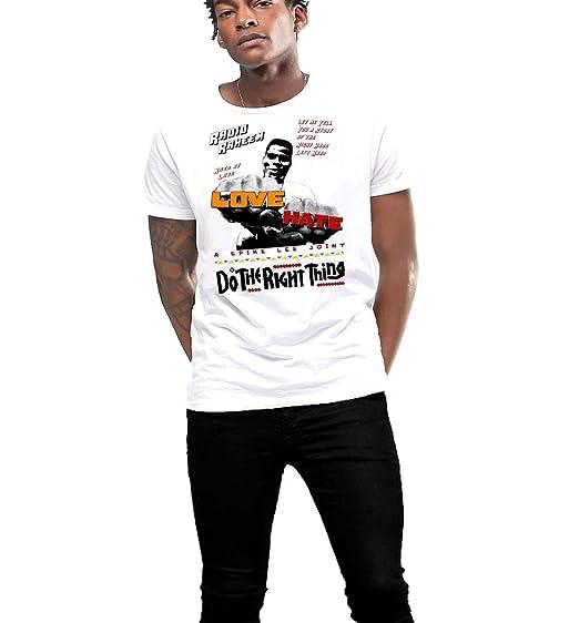 Hip Hop T-shirt Rap Music Love Vs Hate Cotton Tee   Amazon com