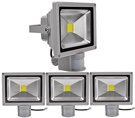 4pcs 20W Foco LED con Sensor Movimiento,ALPHA DIMA Foco Proyector ...