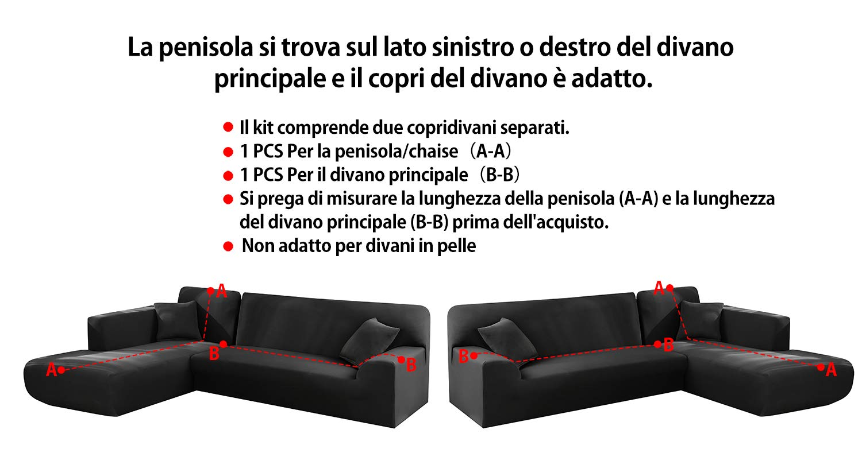 Funda de Sofá con Chaise Longue elástico Chaise Longue Sofa ...