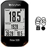 Bryton Rider 320 GPS Bike Computer. Simple but Powerful. 5 Satellite Systems Support. 35hrs Long Battery Life. Support ANT+/BLE Speed, Cadence, Heartrate Monitor sensors, ANT+ Power Meter.