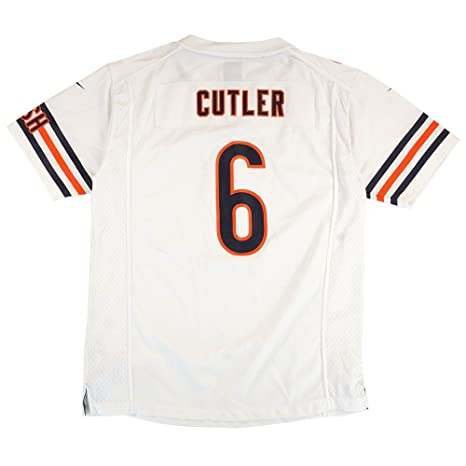 94ad0e18f21 Chicago Bears Jay Cutler #6 NFL Big Boys Youth Game Jersey, White (X