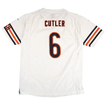 low priced 42b17 4902e Chicago Bears Jay Cutler #6 NFL Big Boys Youth Game Jersey, White