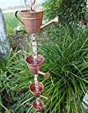 WATERING CAN CUPS RAIN CHAIN WITH INSTALLATION KIT (10 Foot)
