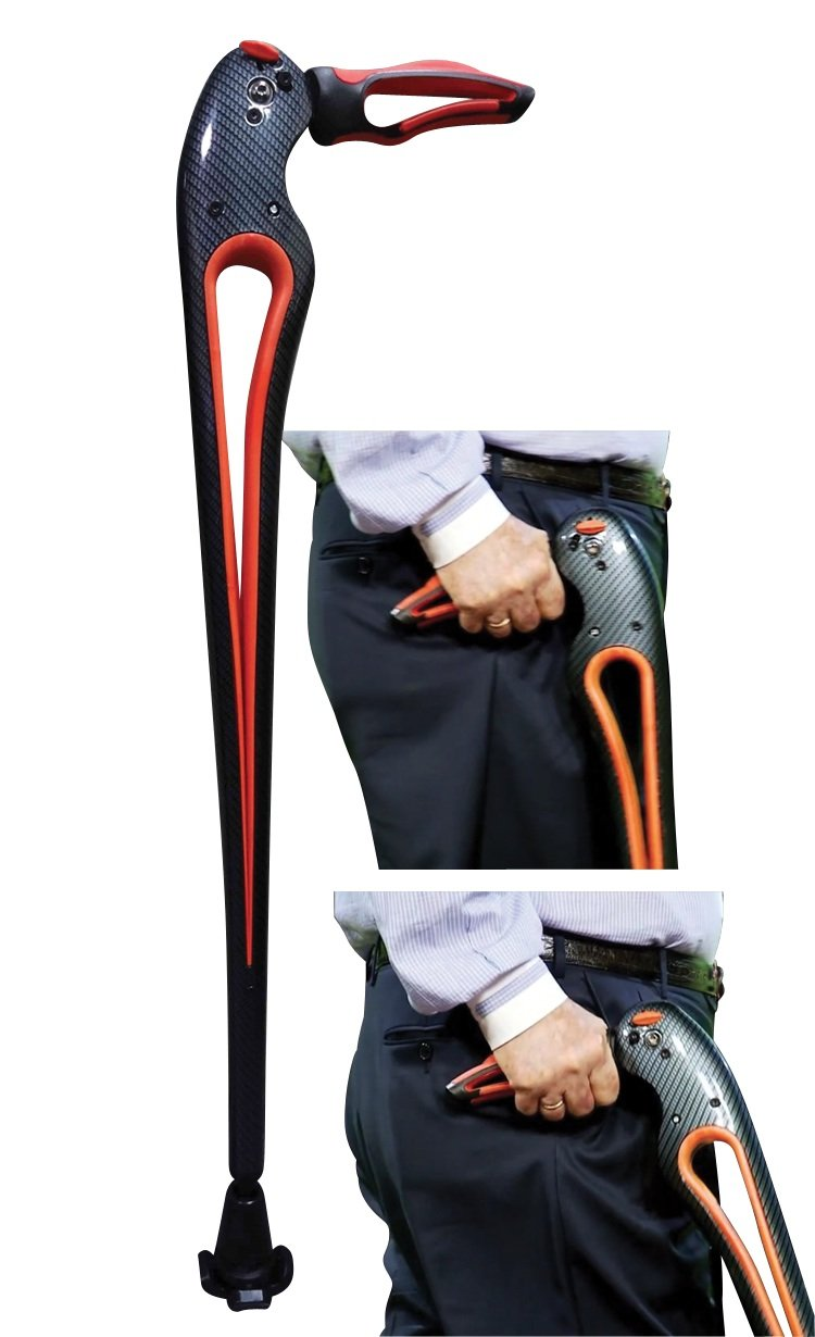 Tucane® Advanced Walking Stick- ''Your Third Hip'' By Ergoactives. (Medium-black/black 5'3'' to 6'0'' Adjustable)