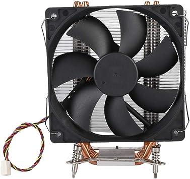 Diyeeni Refrigerador de CPU con 6 Heatpipes, Ventilador PWM de 120 mm, Caja de la computadora Radiador Inteligente con Control de Temperatura, Conector de 4 Pines ...