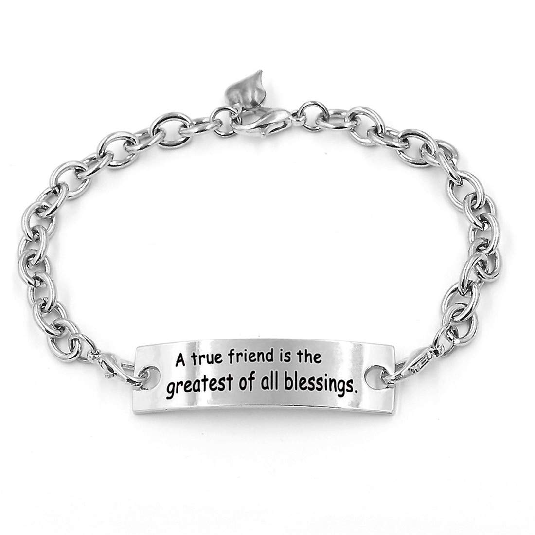 Positive Sayings Chain Inspirational Bracelets,Gifts for Women.