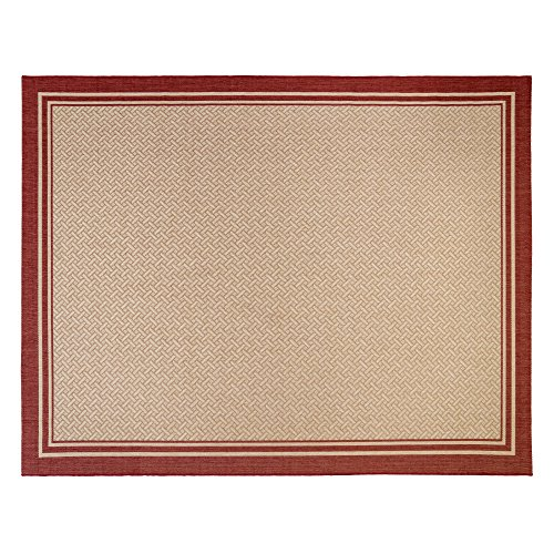Gertmenian 21361 Nautical Tropical Carpet Outdoor Patio Rug, 8x10 Large, Border -
