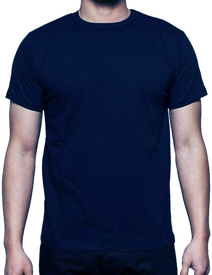 Camiseta de manga corta para hombre, 100% algodón, informal ...