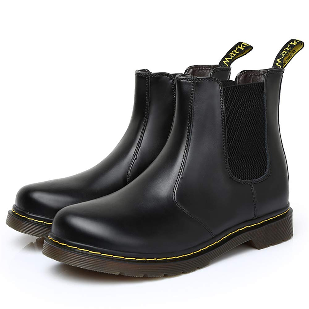 LYLIFE Mens High Top Casual PU Leather Work Shoes Martin Boots