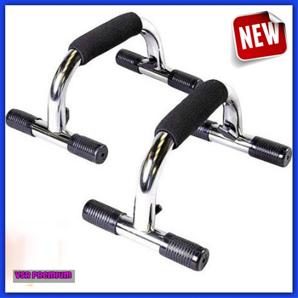Pair Of Pushup Handles Stand Bars GYM Exercise For Men Women.Best Selling Workout Home Training Item.Strength Fitness Build Muscles & Good Health.Portable Steel & Easy to Use.!! by Pushup Exercise