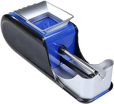 Denshine Máquina de Tabaco Electrica Automático Portátil Accesorios de Cigarrillos para Liar Entubar Cigarrillos Color Azul: Amazon.es: Salud y cuidado personal