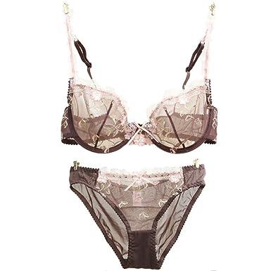 ed4a9efe94 Sexy Vintage Bra   Brief Sets Lace Bras Knickers Transparent Underwear Suit  ...
