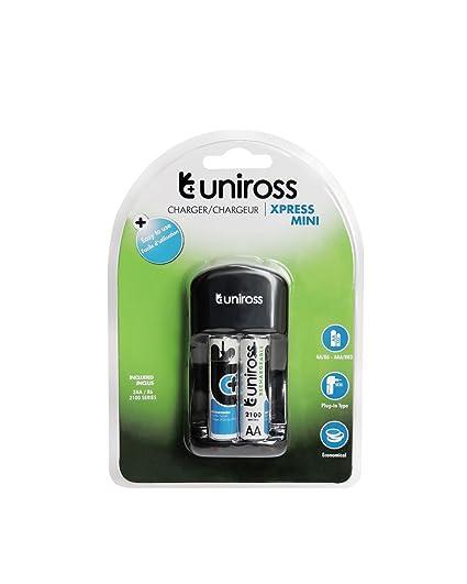 Uniross mini aa/aaa rechargeable chargeur avec 2 x piles aaa | ebay.