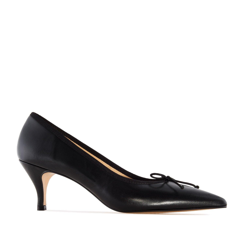 Andres Machado - Julia - Eleganter Damenschuh aus Leder mit dünner Spitze in Schwarz - Made IN Spain -.EU 32 bis 35 42 bis 45