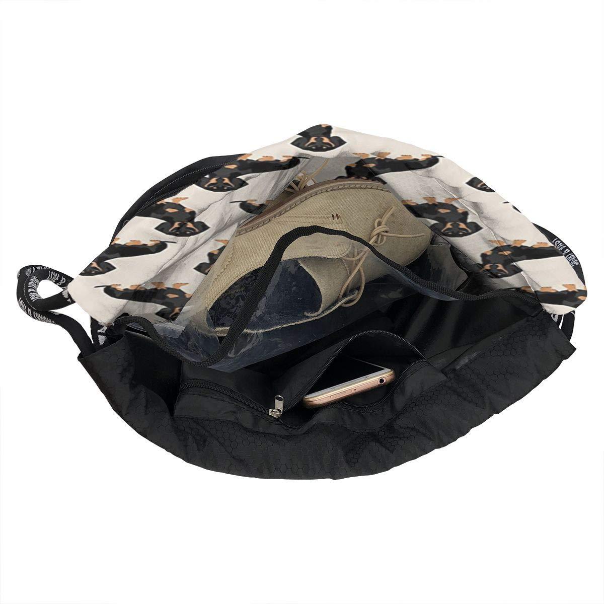 Zol1Q Lightweight Waterproof Large Storage Drawstring Bag for Men /& Women Black Dogs Cinch Backpack Sackpack Tote Sack